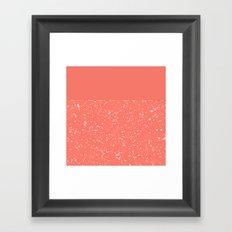 XVI - Peach 1 Framed Art Print