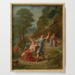 "Eugène Delacroix ""Spring from a series of the Four Seasons (Orpheus and Eurydice)"" Serving Tray"