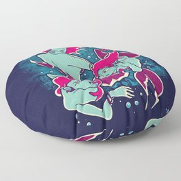 Mermaid Tattoo Floor Pillow