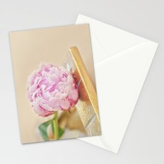 PEONY WITH GOLD Stationery Cards