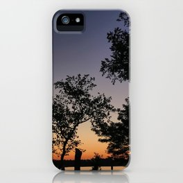 Silhouettes at sunset in Annapolis, MD   Jonas Green Park iPhone Case