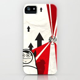 Off to work iPhone Case