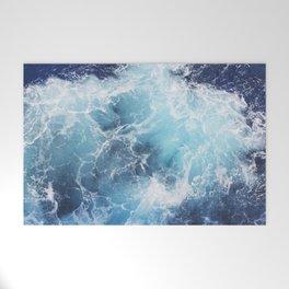 Ocean Waves Welcome Mat