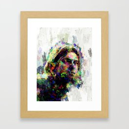 KurtCobain painting Framed Art Print