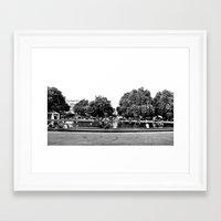 vienna Framed Art Prints featuring Vienna by Med Threads