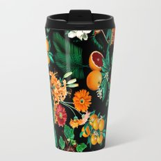 Fruit and Floral Pattern Travel Mug