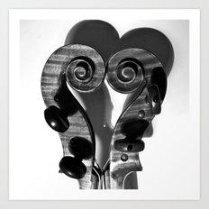 VIOLA HEART Art Print