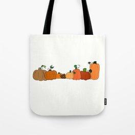 Pumpkins in a Row Tote Bag