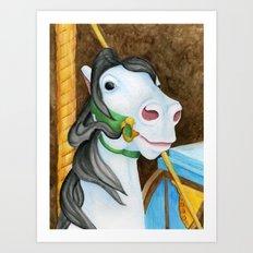Carousel Horse - Dazzle Art Print
