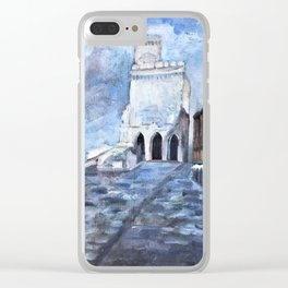 Sorrento, Italy - Blue & White - Oil on Canvas Clear iPhone Case
