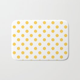 Polka Dots (Orange & White Pattern) Bath Mat