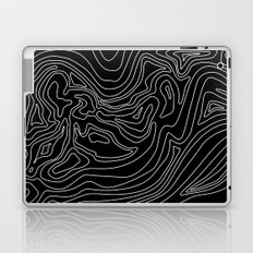 Ocean depth map - black Laptop & iPad Skin