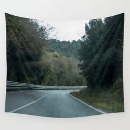 Empty Road Wall Tapestry