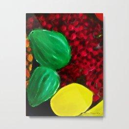 colorful Bowl Of Fruit Two Metal Print