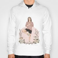 coconutwishes Hoodies featuring Peaceful by Coconut Wishes