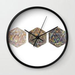 Iridescent Aura Quartz Polyhedrons Wall Clock