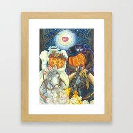 SLEEPY HOLLOW WEDDING - Brack Headless Horseman Halloween Art Framed Art Print