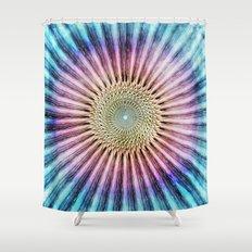 Textured Mandala Tie Dye Shower Curtain
