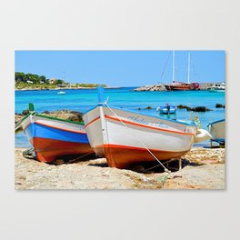 Sicilian Fishing Boats Canvas Print