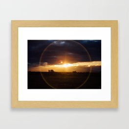 Sunset in Patagonia Chile, by Caroline Zhao Framed Art Print