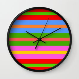 Coloured Stripes Wall Clock