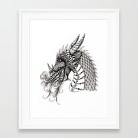 dragon Framed Art Prints featuring Dragon by Elisa Camera