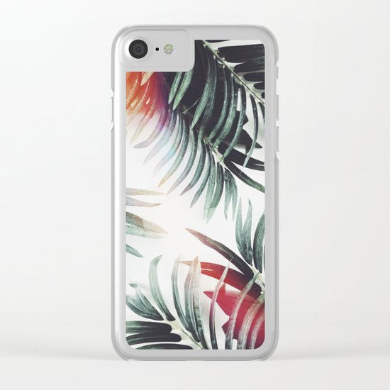 Vintage plants Clear iPhone Case