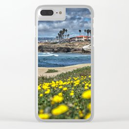 Daisies, Sunset Cliffs, San Diego Clear iPhone Case