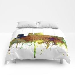 Birmingham, Alabama Skyline SG - Safari Buff Comforters
