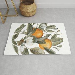 Blooming Citrus Watercolor Rug