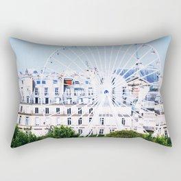 Grand Roue Bleu Rectangular Pillow