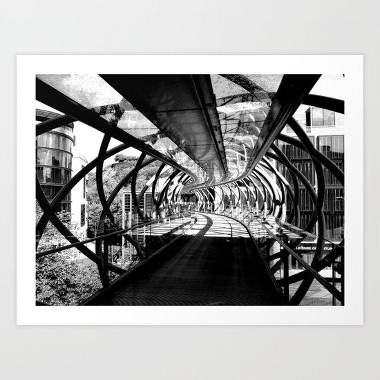 Bridge to Edinburgh, Scotland Art Print