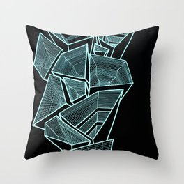 Pockets - Inverted Blue Throw Pillow