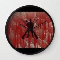 cowboy Wall Clocks featuring cowboy by Saleem007