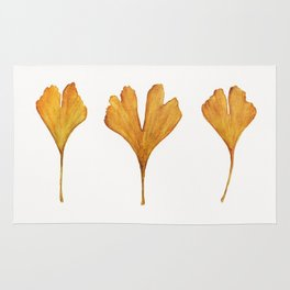 Three Ginkgo Leaves Rug