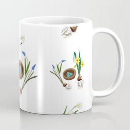 Easter flowers and birds nest pattern Coffee Mug