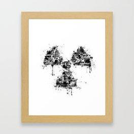 Radioactivity Symbol Framed Art Print