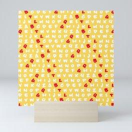 Abc's yellow Mini Art Print