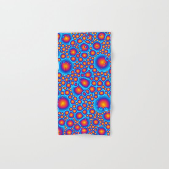 Blue And Orange Bubbles Hand & Bath Towel