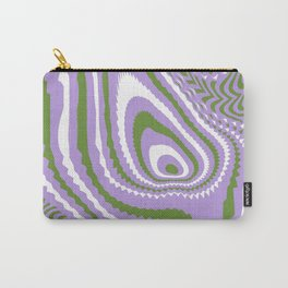 Genderqueer Pride Abstract Warped Stripey Whorl Carry-All Pouch
