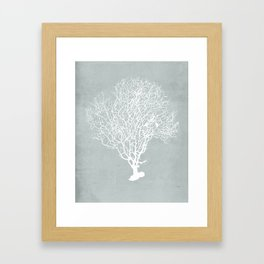 White Coral Framed Art Print