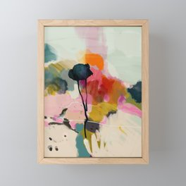 paysage abstract Framed Mini Art Print