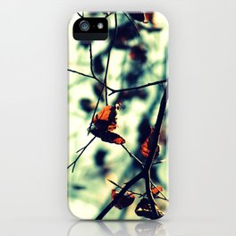 Aqua Leaves iPhone Case