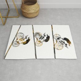 3 cyclers sport art #cycling #sport Rug