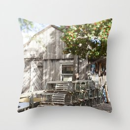Beneath the Holly Tree Throw Pillow