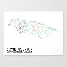 Boyne Mountain, MI - Minimalist Trail Art Canvas Print