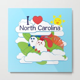 Ernest and Coraline | I love North Carolina Metal Print