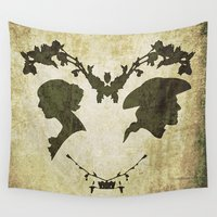 silhouette Wall Tapestries featuring silhouette by Camille