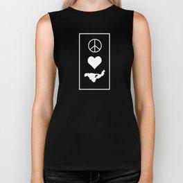 Peace LOVE Crooked Lake Biker Tank