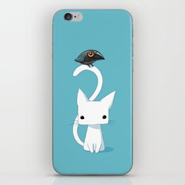 Cat and Raven iPhone Skin